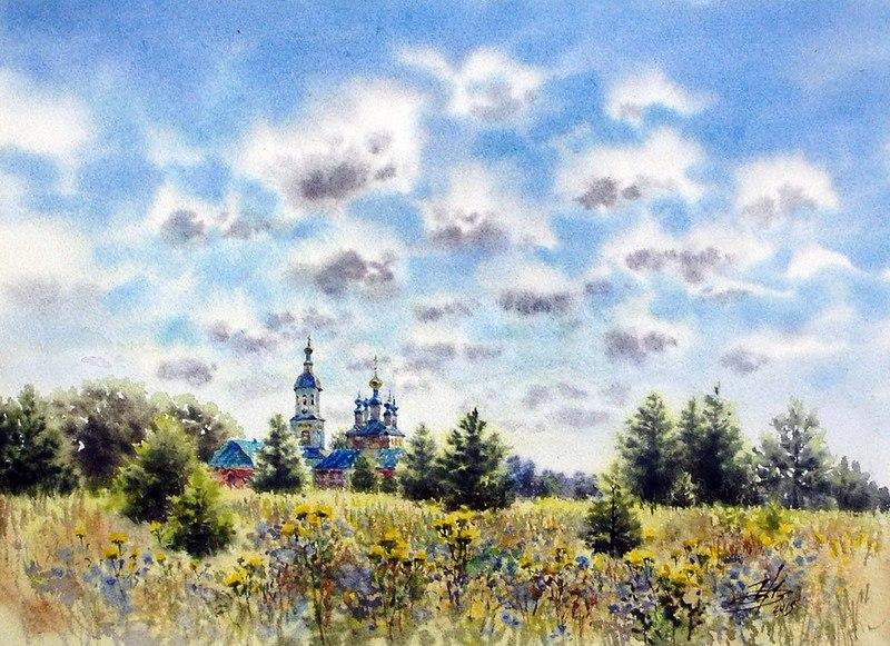 акварельный пейзаж Ольга Ивлева - 01