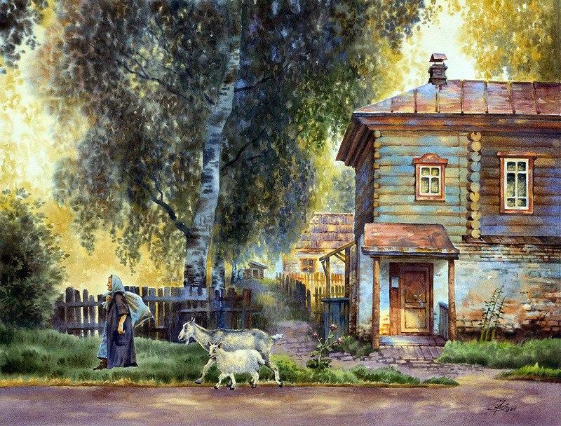 акварельный пейзаж Ольга Ивлева - 02