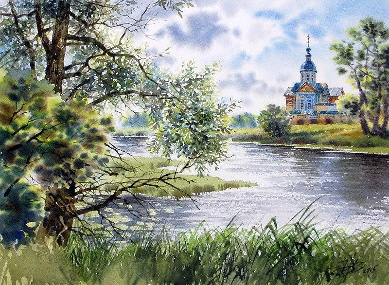 акварельный пейзаж Ольга Ивлева - 04