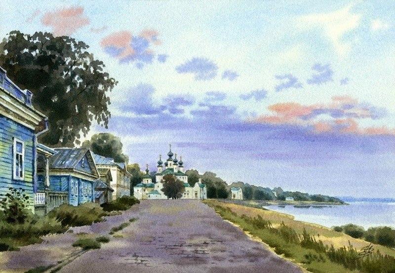 акварельный пейзаж Ольга Ивлева - 05