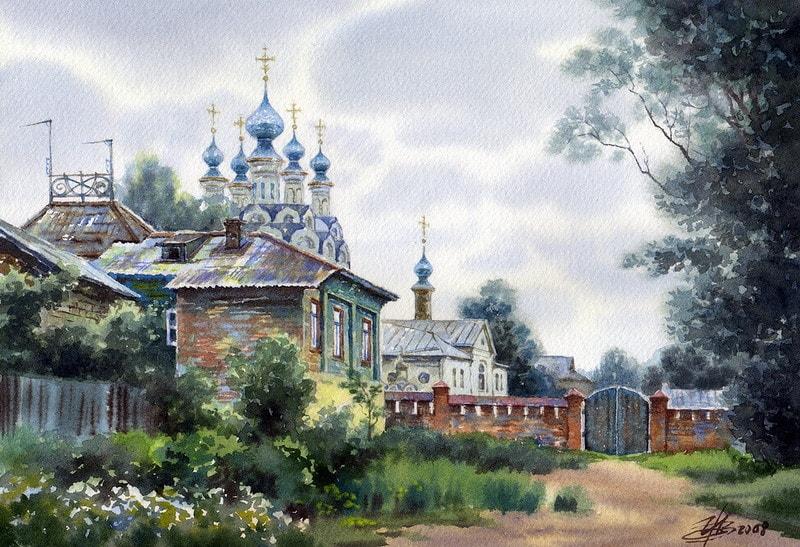 акварельный пейзаж Ольга Ивлева - 06