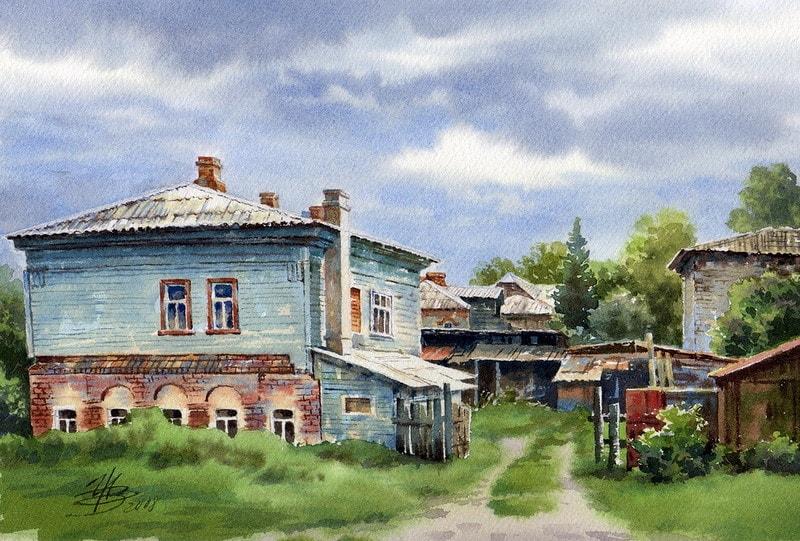 акварельный пейзаж Ольга Ивлева - 07