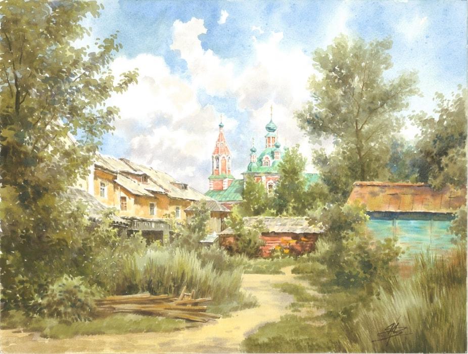 акварельный пейзаж Ольга Ивлева - 09