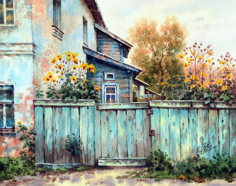 акварельный пейзаж Ольга Ивлева - 11