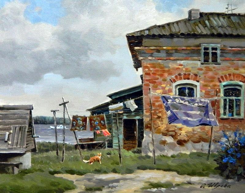 акварельный пейзаж Ольга Ивлева - 12
