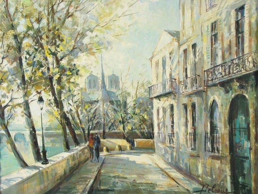 пейзажи художник Lucien Delarue - 04