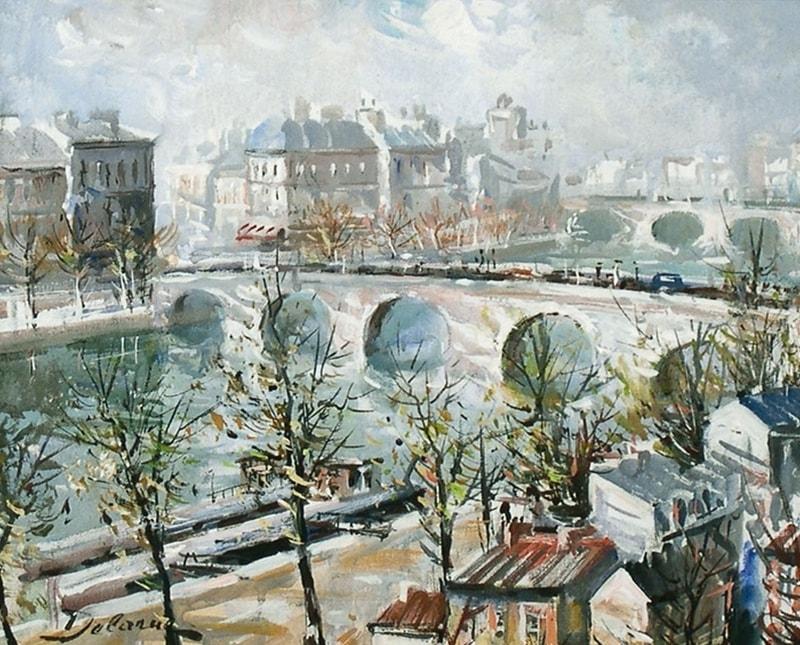 пейзажи художник Lucien Delarue - 06