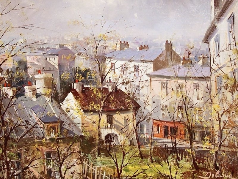пейзажи художник Lucien Delarue - 07