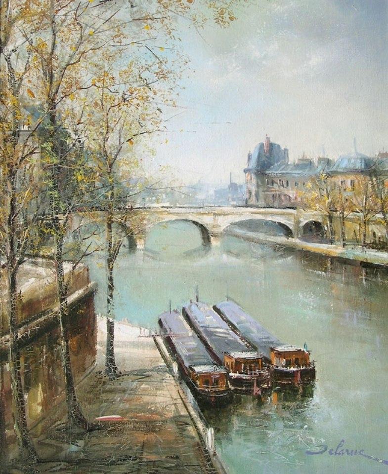 пейзажи художник Lucien Delarue - 09