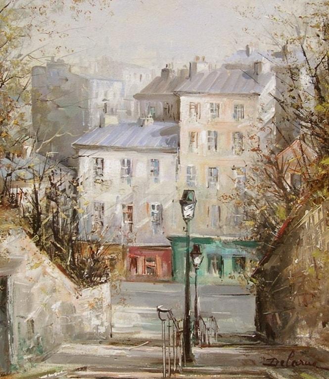 пейзажи художник Lucien Delarue - 11