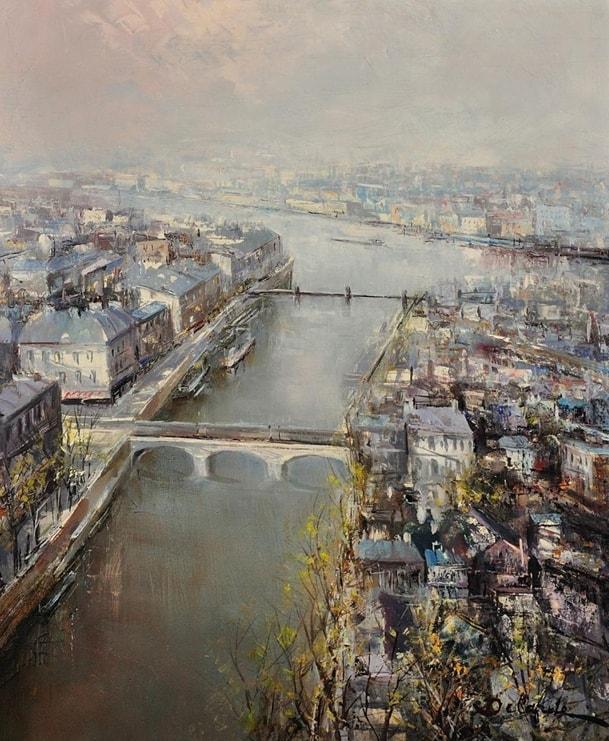 пейзажи художник Lucien Delarue - 12