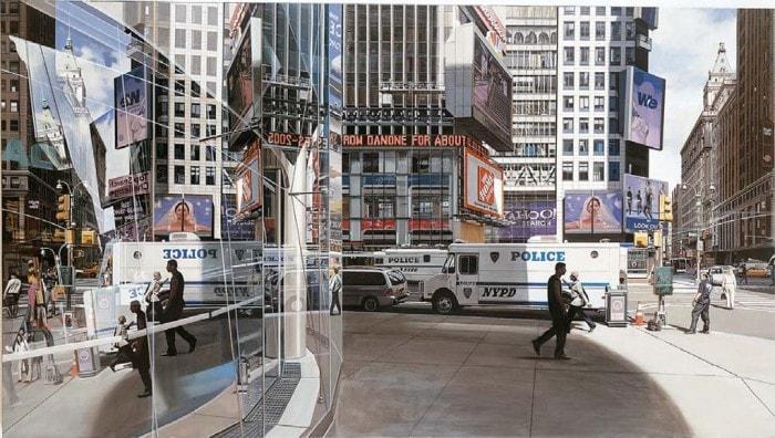 городские пейзажи Richard Estes - 01