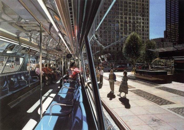 городские пейзажи Richard Estes - 06