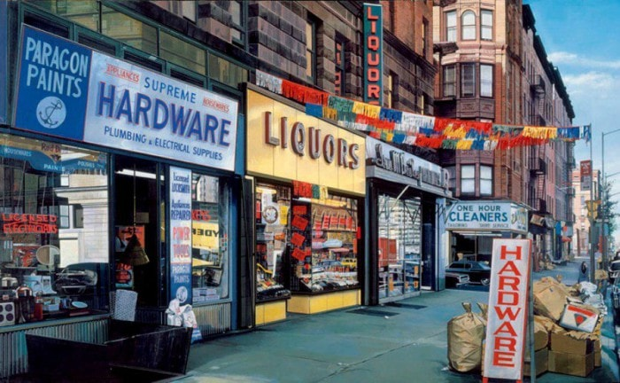 городские пейзажи Richard Estes - 07