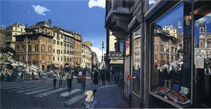 городские пейзажи Richard Estes - 08