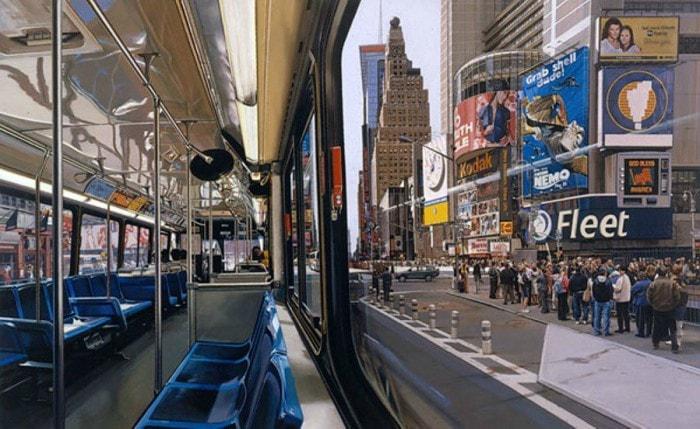 городские пейзажи Richard Estes - 13