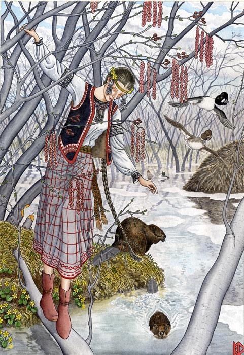 Николай Фомин деревья в женских образах - 04