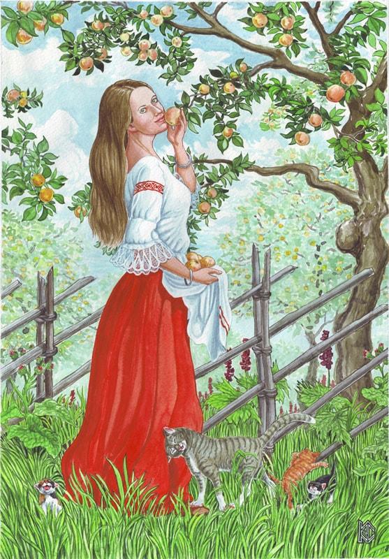 Николай Фомин деревья в женских образах - 06