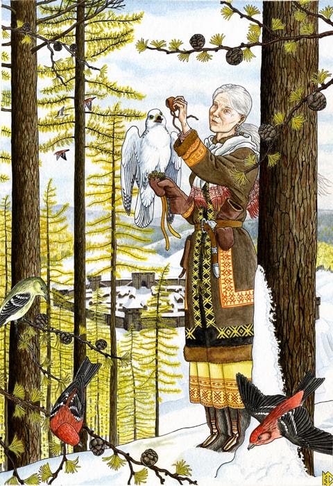 Николай Фомин деревья в женских образах - 07