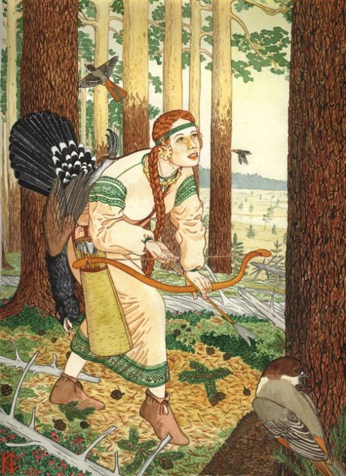 Николай Фомин деревья в женских образах - 08