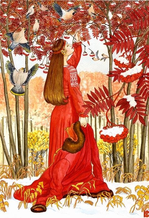 Николай Фомин деревья в женских образах - 09