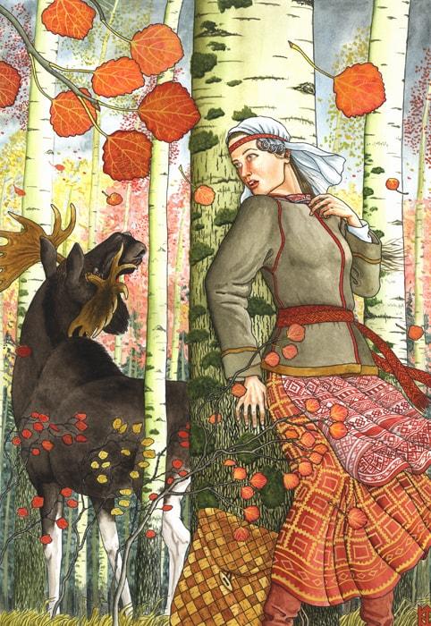 Николай Фомин деревья в женских образах - 11