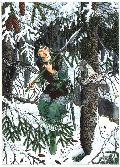 Николай Фомин деревья в женских образах - 12