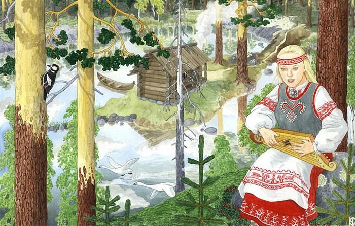 Николай Фомин деревья в женских образах - 14