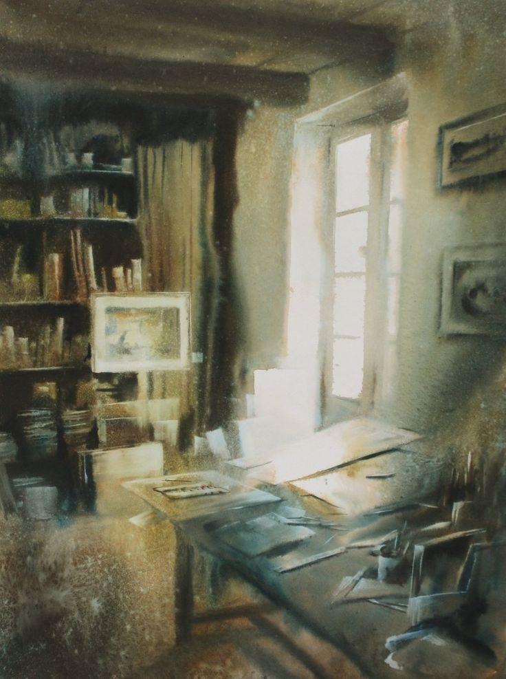 акварели художника David Chauvin - 09