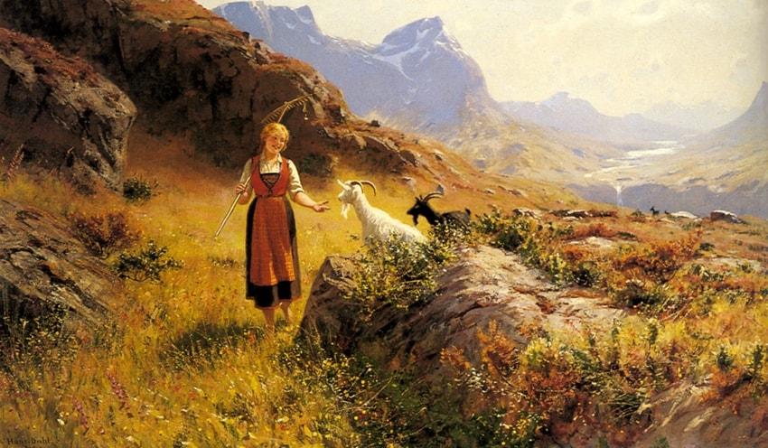 норвежский художник Hans Dahl - 01