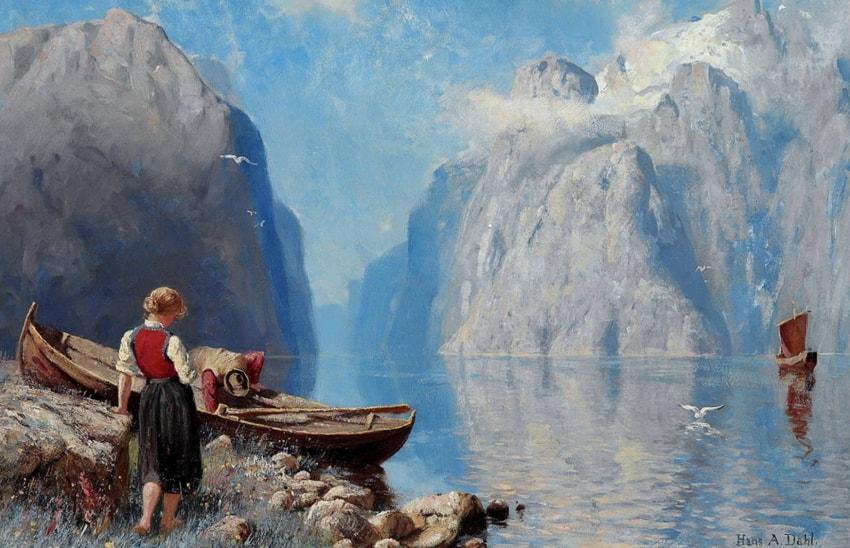 норвежский художник Hans Dahl - 02