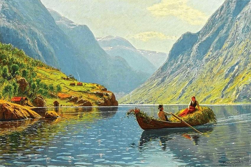 норвежский художник Hans Dahl - 03