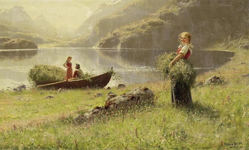 норвежский художник Hans Dahl - 06