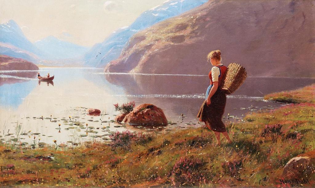 норвежский художник Hans Dahl - 07