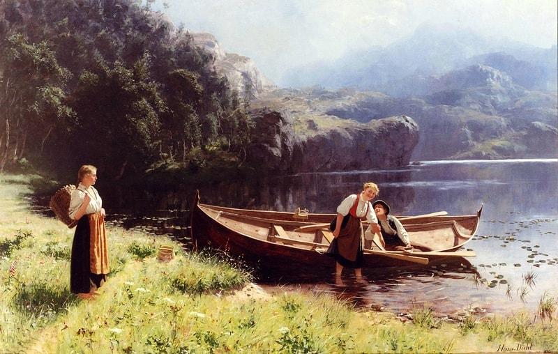 норвежский художник Hans Dahl - 08