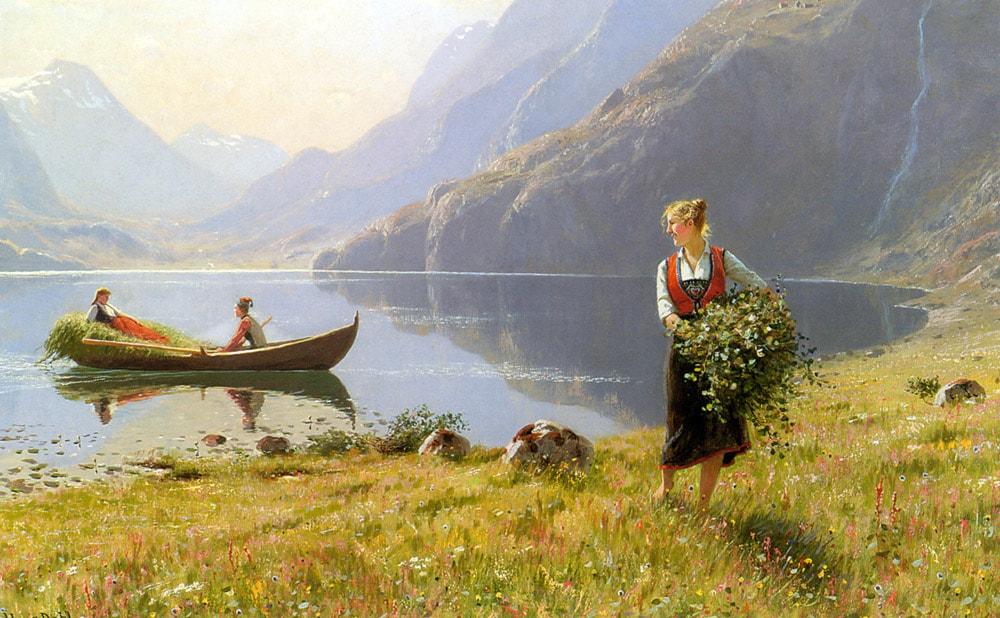 норвежский художник Hans Dahl - 09