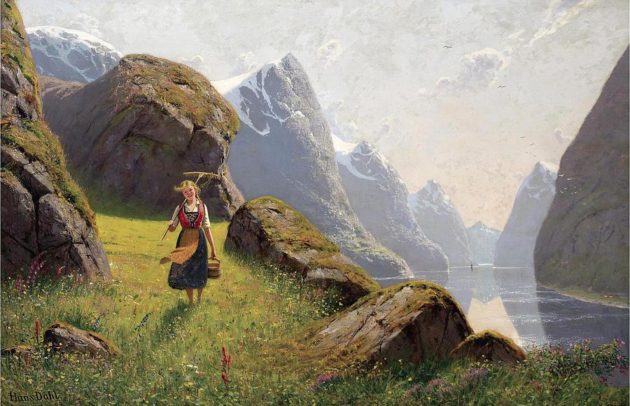 норвежский художник Hans Dahl - 11