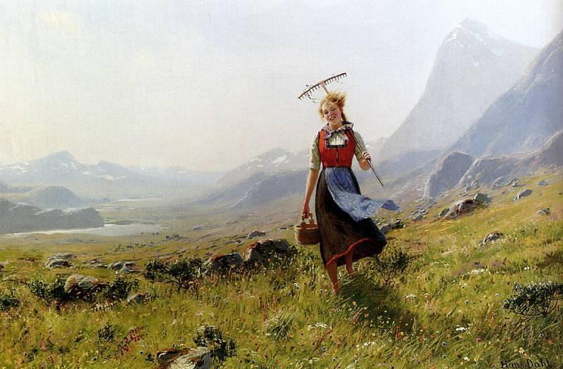 норвежский художник Hans Dahl - 12