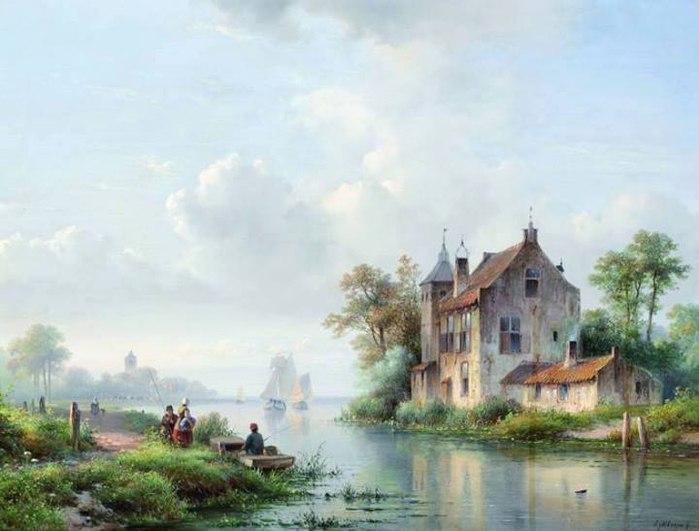 городские пейзажи Lodewijk Johannes Kleijn - 01