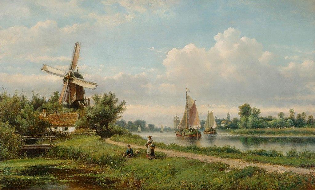 городские пейзажи Lodewijk Johannes Kleijn - 02