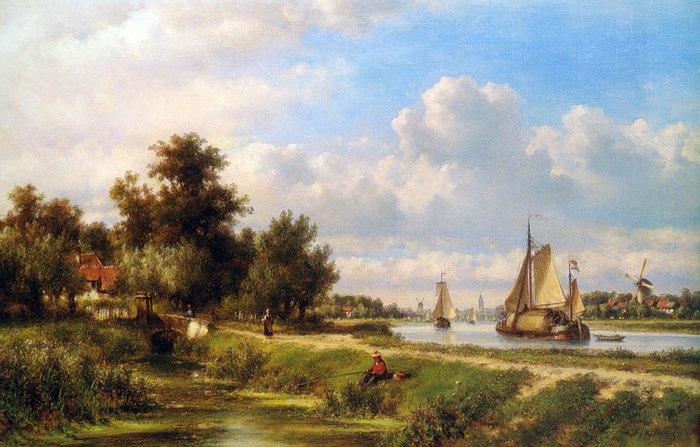 городские пейзажи Lodewijk Johannes Kleijn - 03