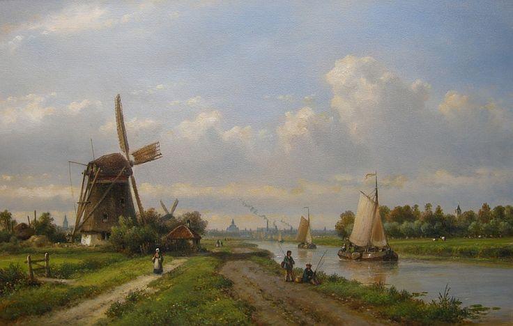 городские пейзажи Lodewijk Johannes Kleijn - 04