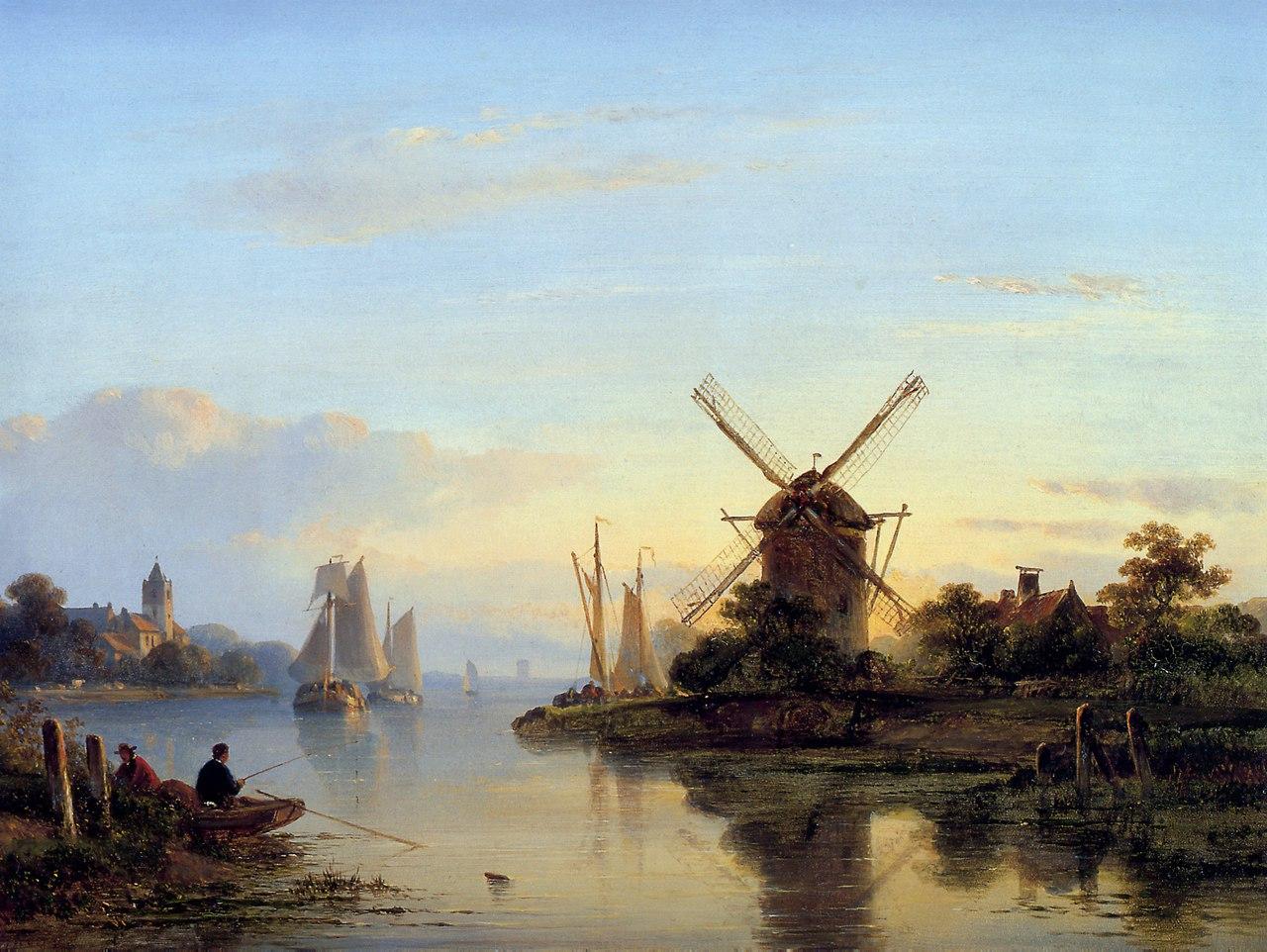 городские пейзажи Lodewijk Johannes Kleijn - 05