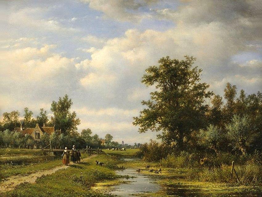 городские пейзажи Lodewijk Johannes Kleijn - 06