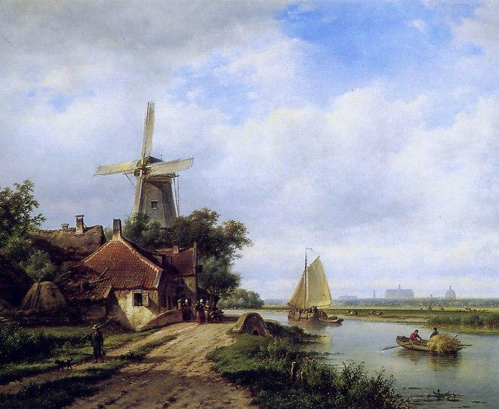 городские пейзажи Lodewijk Johannes Kleijn - 07