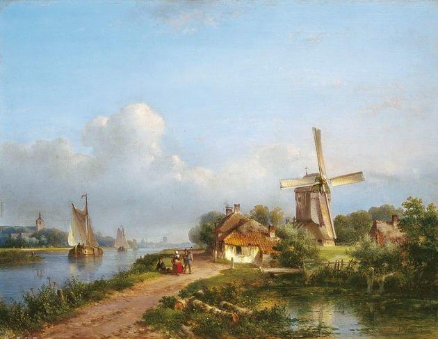 городские пейзажи Lodewijk Johannes Kleijn - 08