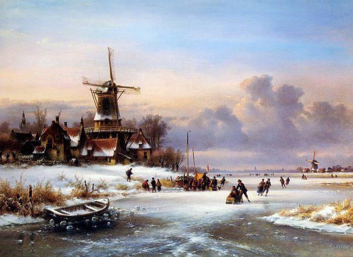 городские пейзажи Lodewijk Johannes Kleijn - 09